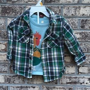 Tea Collection Flannel and Long Sleeve Tee Outfit